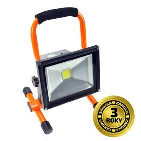 Solight 20W, studená bílá, nabíjecí, 1600lm (WM-20W-D) čierny/oranžový