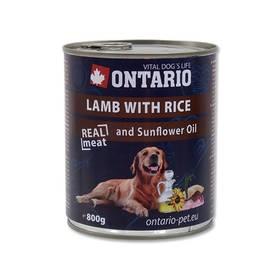 Ontario Adult jehněčí, rýže a slunečnicový olej 800g