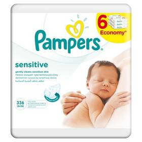 Pampers Sensitive 6x56ks