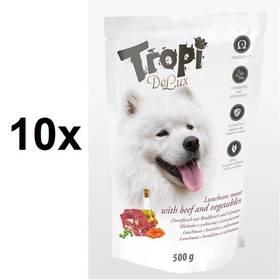 Tropi De Lux Dog lunchmeat s příchutí hovězího a zeleniny 10 x 500 g