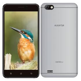 Aligator S5070 Dual SIM (AS5070SR) stříbrný SIM s kreditem T-Mobile 200Kč Twist Online Internet (zdarma)Software F-Secure SAFE, 3 zařízení / 6 měsíců (zdarma)