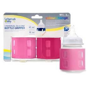 Obal na kojeneckou láhev Cherub Baby Univerzální - růžový