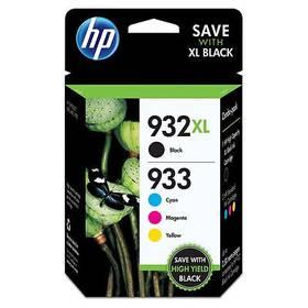 HP 932XL černá + 933XL azurová, purpurová a žlutá (C2P42AE)