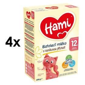 Hami 3 Vanilka od ukočeného 12. měsíce, 600g x 4ks + Doprava zdarma