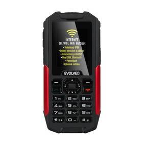 Evolveo StrongPhone X3 Dual SIM (SGM SGP-X3-B) černý/červený SIM s kreditem T-Mobile 200Kč Twist Online Internet (zdarma)