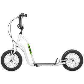 """Yedoo Basic Wzoom 12"""" bílá + Reflexní sada 2 SportTeam (pásek, přívěsek, samolepky) - zelené v hodnotě 58 Kč"""