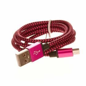 CellFish USB/micro USB, 1m (PLUSBKABELPINK) růžový