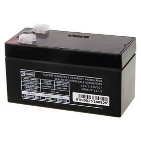 Olověný akumulátor EMOS bezúdržbový 12 V/1,3 Ah, faston 4,7 mm