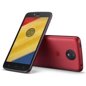 Motorola Moto C Plus Dual SIM (PA800118CZ) červený SIM s kreditem T-Mobile 200Kč Twist Online Internet (zdarma) + Doprava zdarma