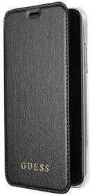 Guess Iridescent Book Pouzdro pro iPhone X (GUFLBKPXIGLTBK) černé