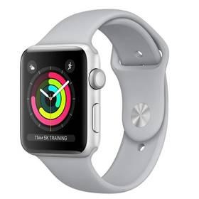 Apple Watch Series 3 GPS 38mm pouzdro ze stříbrného hliníku - mlhově šedý sportovní řemínek (MQKU2CN/A) + Doprava zdarma