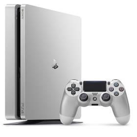 Sony PlayStation 4 SLIM 500GB + DualShock4 (PS719848769) stříbrná + Doprava zdarma