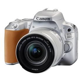 Canon EOS 200D + EF18-55 IS STM (2256C001) stříbrný Brašna na foto/video Canon Holster HL100 (zdarma) + Doprava zdarma