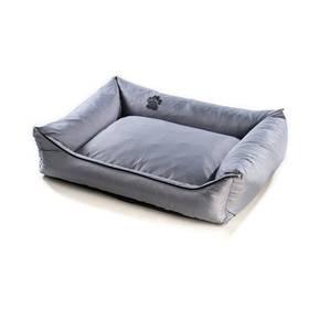 Argi pro psa obdélníkový - 120x90 cm / snímatelný potah šedý + Doprava zdarma
