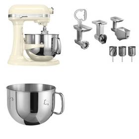 Set KitchenAid - kuchyňský robot 5KSM7580XEAC + 5KR7SB mísa 6,9 l + FPPC balíček s příslušenstvím + Doprava zdarma