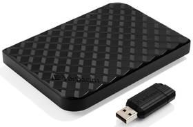 """Verbatim Store 'n' Go GEN2 1,5TB + 16GB USB flash (53218) černý + Pouzdro na HDD Verbatim Store 'n' Go 2,5"""" - černé v hodnotě 199 Kč"""