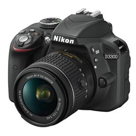 Nikon D3300 + 18-55 AF-P DX černý + K nákupu poukaz v hodnotě 1 000 Kč na další nákup + Doprava zdarma