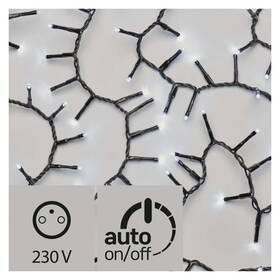 EMOS 400 LED, řetěz – ježek, 8m, studená bílá, časovač (1534203600)
