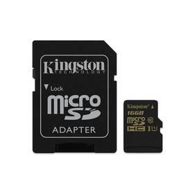 Kingston MicroSDHC 16GB UHS-I U1 (90R/45W) + adapter (SDCA10/16GB)