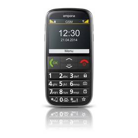 emporia EUPHORIA (TELEMEUPHORIA) černý SIM s kreditem T-Mobile Twist V síti 200 Kč kredit (zdarma)