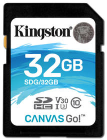 Kingston Canvas Go! SDHC 32GB UHS-I U3 (90R/45W) (SDG/32GB)