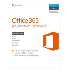 Microsoft Office 365 pro jednotlivce CZ (QQ2-00602) (vrácené zboží 8800568331)