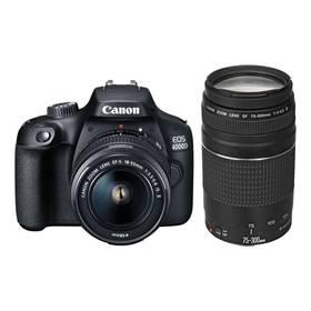 Canon EOS 4000D + EF-S 18-55mm DC + EF 75-300mm DC (3011C010) černý