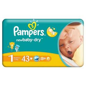 Pampers New baby NEWBORN vel. 1, 43 ks
