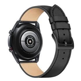 FIXED Leather Strap s šířkou 22mm (FIXLST-22MM-BK) černý