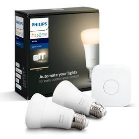 Philips Hue Bluetooth 9W, E27, White (2ks) + Bridge (8718696785218)