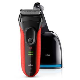 Braun Series 3-3050 Clean&Charge černý/červený