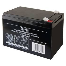 EMOS bezúdržbový 12 V/12 Ah, faston 6,3 mm (B9656)