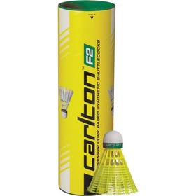 Badmintonové košíčky Carlton F2 Yellow 6 ks (pomalý) zelené