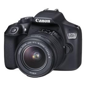 Canon EOS 1300D + 18-55 DC III (1160C030) černý + K nákupu poukaz v hodnotě 1 000 Kč na další nákup + Doprava zdarma