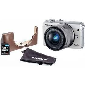 Canon EOS M100 + EF-M 15-45mm + EH31FJ + 16GB (2210C095) bílý + Doprava zdarma