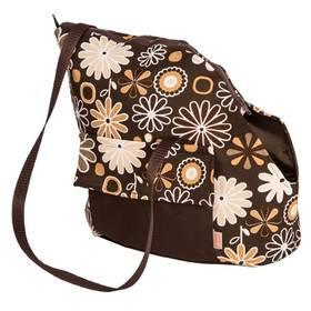 Transportná taška Samohýl Viky s květy 30cm hnedá