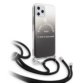 Karl Lagerfeld Gradient pro Apple iPhone 11 Pro (KLHCN58WOGRBK) černý