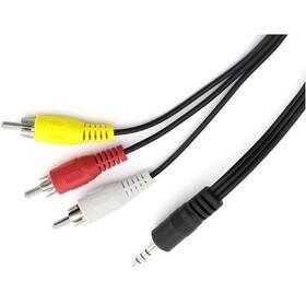Kabel AQ jack 3,5 mm na 3× CINCH, 1,5 m (xaqcv26015) černá barva