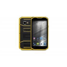 GoClever Quantum 3 550 Rugged LTE Dual SIM (FQ3550RUG) černý/žlutý SIM s kreditem T-mobile 200Kč Twist Online Internet (zdarma) + Doprava zdarma