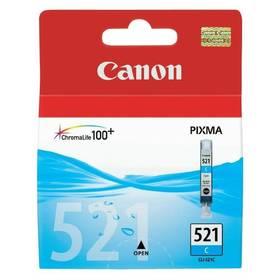 Inkoustová náplň Canon CLI-521C, 530 stran - originální (2934B001) modrá