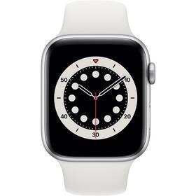 Apple Watch Series 6 GPS 40mm pouzdro střírbného hliníku - bílý sportovní náramek (MG283VR/A)