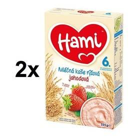 Hami rýžová s jahodami 6M, 225g x 2ks