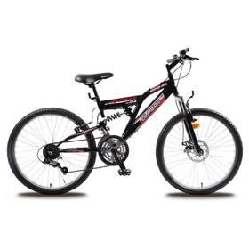"Detský bicykel Olpran Vegas Disc 24"" s bezpečnostnými prvkami čierny"