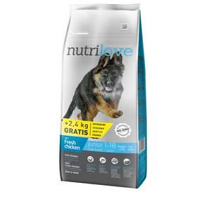 Nutrilove Dog dry Junior L fresh chicken 12kg + 2,4 kg ZDARMA + Doprava zdarma