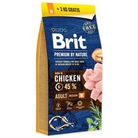 Brit Premium Dog by Nature Adult M 15 + 3 kg