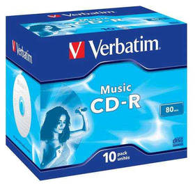 Verbatim CD-R 700MB/80 min. AUDIO LIVE IT!, 10ks (43365)