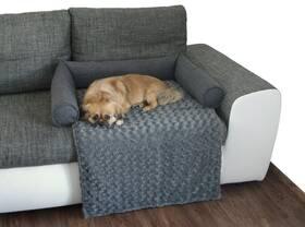 O'Lala Pets na sedačku 60 x 45 cm tmavě šedá