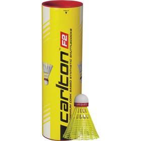 Badmintonové košíčky Carlton F2 Yellow 6 ks (rychlý) červené