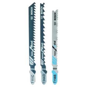 Sada pílových plátkov Bosch 3dílná pilových plátků na dřevo/kov/plasty