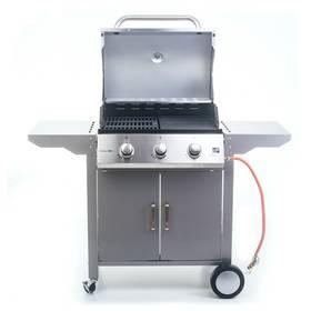 G21 Oklahoma, BBQ Premium Line 3 hořáky + připojovací sada zdarma + Houpací síť Spokey SHADOW